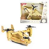 """Пластиковая игрушка """"Военный самолет"""" бежевый WENYI (WY491AB), WY491AB, фото"""
