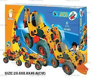 Пластиковый конструктор «6 моделей машин», 2555-23