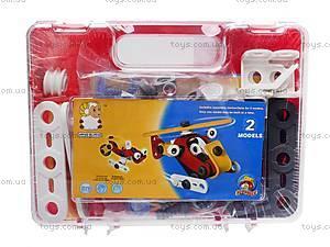 Пластиковый конструктор для детей «Модели вертолета и машины», 2555-13A, toys