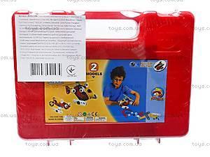 Пластиковый конструктор для детей «Модели вертолета и машины», 2555-13A, детский