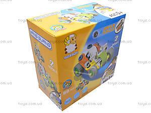 Пластиковый конструктор «Две модели машин» для детей, 2555-11, магазин игрушек