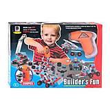 Пластиковый конструктор с шуруповертом, 280 деталей, 661-301