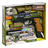 """Пластиковый пистолет """"Power Gun"""" с эффектами , 34590, купить"""