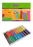 Пластилин для лепки 18 цветов, 360 гр, со стеком, ZB.6206, фото