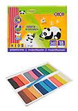 Пластилин для творчества 18 цветов, 360 гр, со стеком, ZB.6212