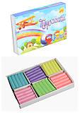 "Пластилин 6 цветов 110 грамм ""Жемчужина"" с перламутром (2 набора в упаковке), ТЕ275, іграшки"