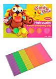 Пластилин 6 неоновых цветов, 100 г, SFT-100-6NEON, игрушки