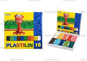 Детский пластилин для лепки, 10 цветов, Ц259020У