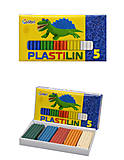 Пластилин «Детский», 5 цветов, Ц259018У, фото