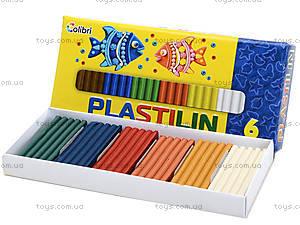 Детский пластилин для лепки, 6 цветов, Ц259025У, купить