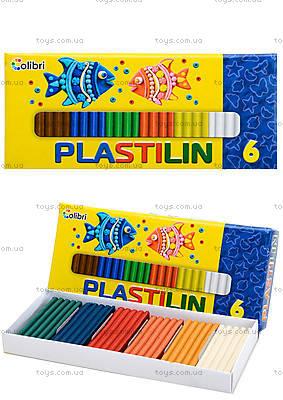 Детский пластилин для лепки, 6 цветов, Ц259025У