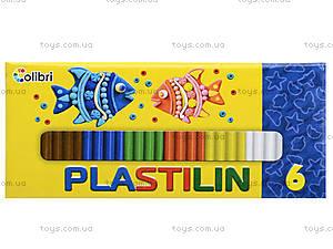 Детский пластилин для лепки, 6 цветов, Ц259025У, отзывы