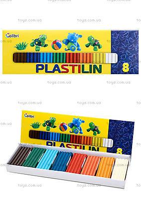 Детский пластилин для лепки, 8 цветов, Ц259026У