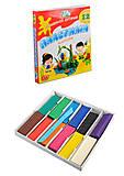 Пластилин детский Гамма, 12 цветов, 240 г, 331011, купить