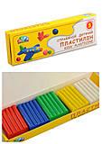 Пластилин Гамма, 5 цветов 50 г, 331024, детские игрушки