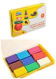 Пластилин детский, 9 цветов, 90 г, 331026, отзывы