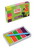 Пластилин Гамма восковой флуоресцентный, 5 цветов, 60 г , 331055Cr, детские игрушки
