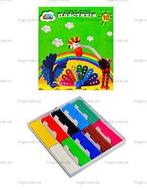 Детский пластилин «Малыши», 10 цветов, 331020