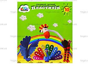 Детский пластилин «Малыши», 10 цветов, 331020, отзывы