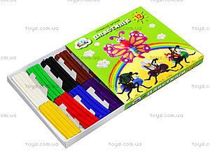 Детский пластилин «Малыши», 12 цветов, 331021, купить