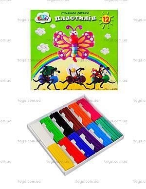 Детский пластилин «Малыши», 12 цветов, 331021
