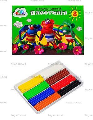 Пластилин для детей «Малыши», 8 цветов, 331019