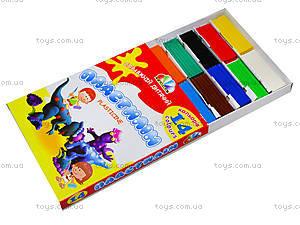 Детский пластилин Гамма серии «Увлечение», 14 цветов, 331036, цена