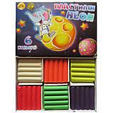 """Пластилин  6 цветов 110 грамм """"Неон"""" (6 наборов в упаковке), ТЕ274, toys"""