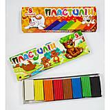 """Пластилин 8 цветов """"Мишка. Собачки"""" (упаковка 4 набора), ТЕ99933 9320"""