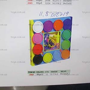 Пластилин для детей, 6 цветов по 60гр, D18219