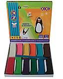 Пластилин Kids Line 12 цветов, 300 г, ZB.6211, интернет магазин22 игрушки Украина