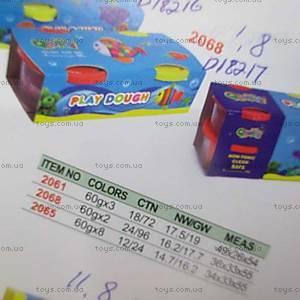 Пластилин по два цвета в банке, D18217