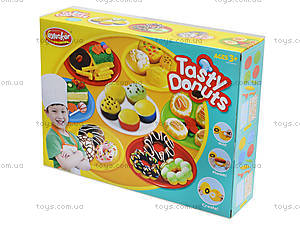 Пластилин с набором для лепки Tasty Donuts, KA3008B, детские игрушки