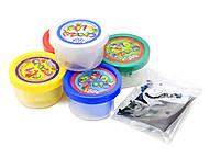 Пластилиновый набор «Crazy Clay» средний, CRC-01-04, детский