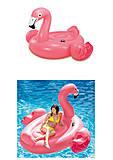 Надувной плот для катания 57288 «Фламинго» с ручками, 57288, детские игрушки