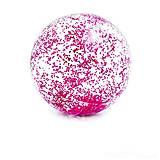 """Пляжный мячик """"Glitter"""" розовый, 58070, игрушки"""