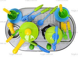 Плита с мойкой и посудой, в коробке, 04-411, цена