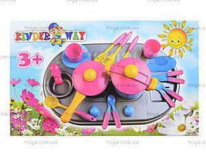 Плита с мойкой и посудой, в коробке, 04-411, toys.com.ua