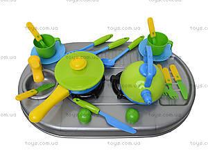 Плита с мойкой и посудой, в коробке, 04-411, набор