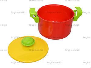 Игрушечная плита с мойкой и посудой, 04-409, детские игрушки