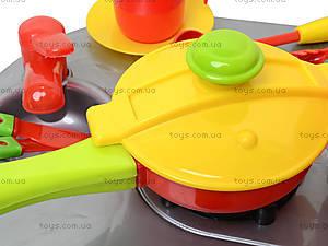 Игрушечная плита с мойкой и посудой, 04-409, магазин игрушек