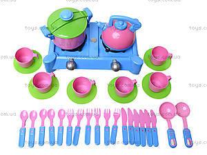 Детская плита с посудкой, 04-415, отзывы