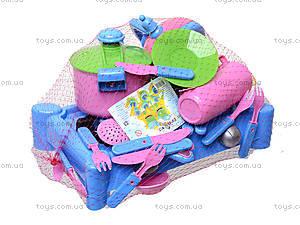 Детская плита с посудкой, 04-415, toys.com.ua