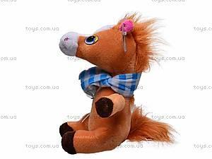 Плюшевая лошадь c шарфом, M-ZY1162, купить