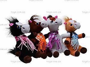 Плюшевая лошадь c шарфом, M-ZY1162
