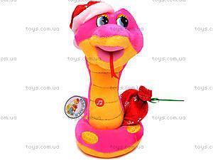 Плюшевая змея в новогоднем колпаке, M-ZY1024/23, фото