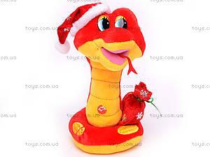Плюшевая змея в новогоднем колпаке, M-ZY1024/23, отзывы