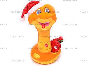 Плюшевая змея в новогоднем колпаке, M-ZY1024/23, цена