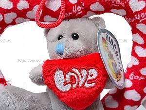 Плюшевое сердце с медвежонком, AB9193A/15, фото