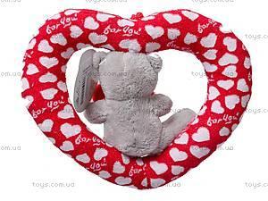 Плюшевое сердце с медвежонком, AB9193A/15, отзывы